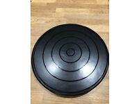 4 large black modern place mats