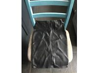 Faux leather pencil skirt from Warehouse size 8