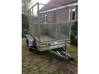 8x4 buffalo trailer 4 wheeled with detachable sides not used for sometime needs a tidy