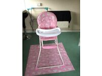 I have a pink love heart highchair