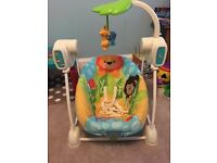 Fisher price swing (space saver)