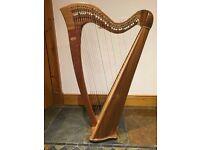 Teifi Telor Celtic 34 String Lever Harp