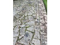 76sqm of quality stone paving - free upon collection