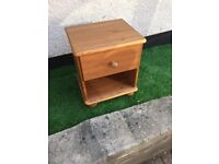 Solid pine small bedside cabinet, £5