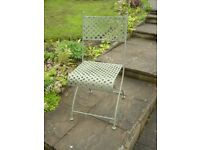 Wrought Iron Folding Garden Chairs ( set of 4 )