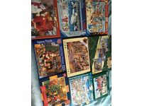 Huge selection of 1000 and 500 pieces jigsaw puzzles