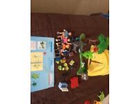 Playmobil box of sets.