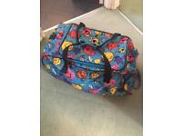 Large Mr Men and Little Miss holdall suitcase with handle and wheels
