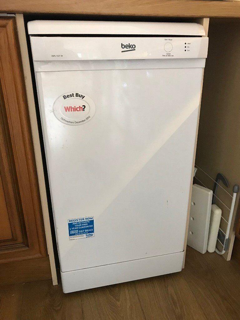 Beko DSFS1531W Slimline Dishwasher - White