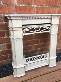 Art Deco Enameled Cast Iron Fireplace- can deliver