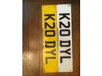 Personalised number plate K20 DYL