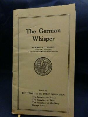 WWI Simmons Service War Bulletin The German Whisper Very Rare!!!