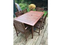 Outdoor table and chairs