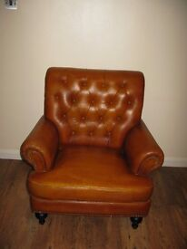 BEAUTIFUL Real Leather Chesterfield Armchair