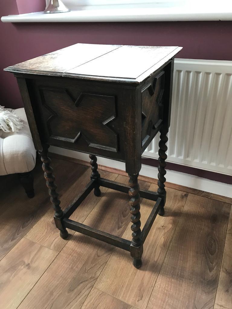 Antique Side Table Folding Desk