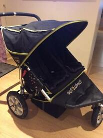 Out & about 360 Nipper twin pram/buggy