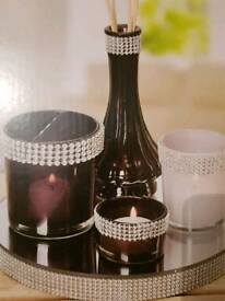 Candle holders and diffuser set