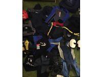 Kayaking equipment, drysuit, wetsuits, bouyoncy aids, helmet, wet shoes, spraydeck, kit bag