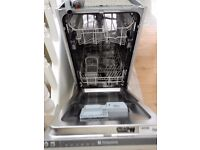 Hotpoint Integrated 450 cm. wide Dishwasher