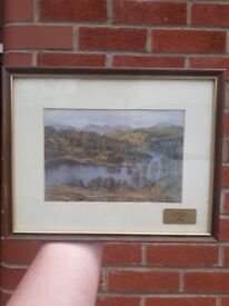 Tarn Hows - Conniston framed picture watercolour