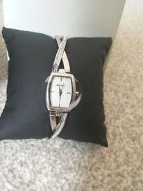 Ladies DKNY CZ Diamonte Stone Set Bracelet Watch