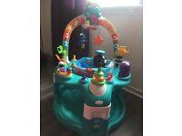 baby einstein 2 in 1 lights and sea activity gym & saucer