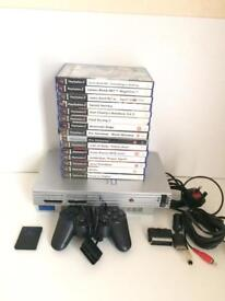 PS2 With 15 Games And m more card.