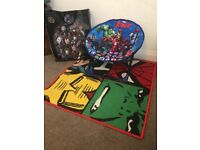 Marvel Avengers Rug & Matching Chair in Bag.