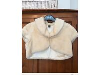 Next fur short sleeved coat, size medium