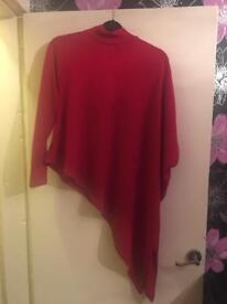New look red jumper like new size uk 14