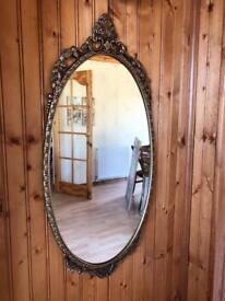 Ornate vintage style mirror