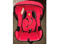 Ferrari Red Beone SP Group 0-Plus Car Seat Brand New Must Go Asap