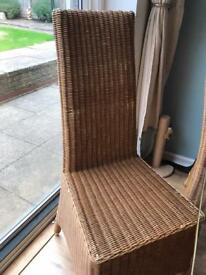 4 x High Back Wicker Chairs