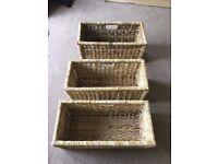 Set of three Natural Fibre baskets