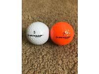 [Unused] Dunlop Golf Balls x15 (Orange,White)