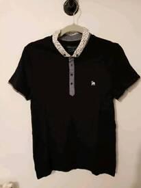 Black Spitafields Shirt Co. polo shirt. Medium