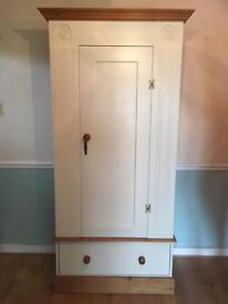Solid Wood wardrobe with drawer
