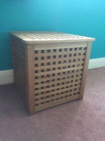 Ikea wooden storage box 50cm by 50cm