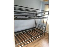 3 sleeper Ikea metal frame bunk bed
