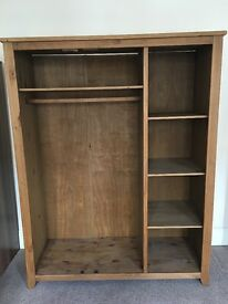Large Wardrobe with Additional Shelf Storage, GOOD CONDITION