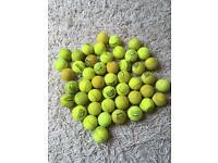 47 used tennis balls