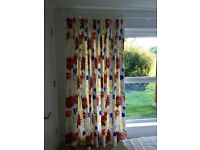 CURTAINS - ONE LARGE PAIR (others available) - AS NEW AND IN TOP CLASS CONDITION