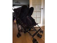 Double maclaren pushchair in excellent cond! £65 original price £260.