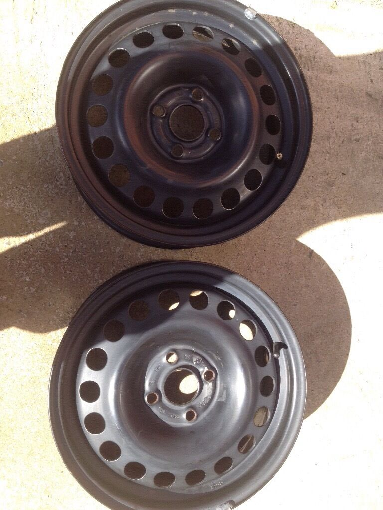 "2x CORSA SXI 15"" STEEL WHEELS"