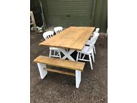 Lovely rustic table chairs and benches