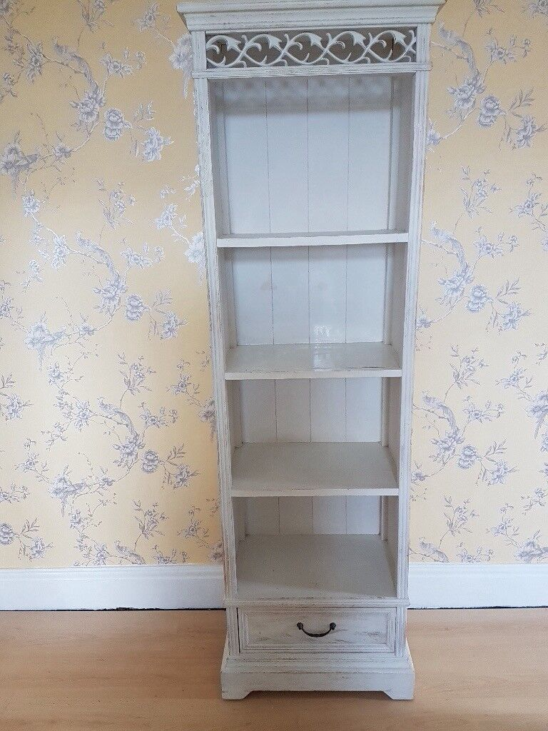 White Shabby Chic Shelf Unit Or Narrow Bookcase With Drawer In Sheffield South Yorkshire Gumtree