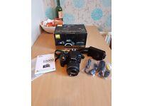 Nikon d3300 with 18-55mm VR lens