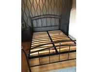Double bed frame - gun metal
