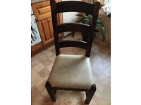 Set of 6 solid wood farmhouse style dining chairs, £50 for the set or £10 each.