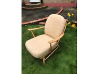 ERCOL 203 1960 WINDSOR ARM CHAIR WITH ORIGINAL CUSHION IN FANTASTIC CONDITION